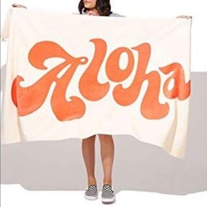"NWT Ban.do ""Aloha"" Giant Towel 72"" X 40"""